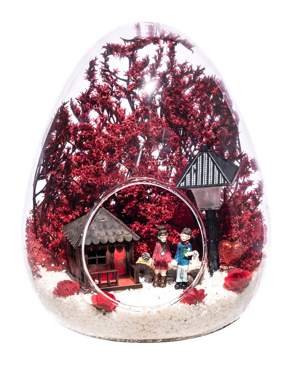 Teraryum Işıklı Kırmızı Aşk Bahçemiz