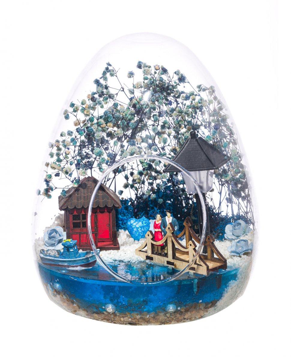 Teraryum Işıklı Mavi Aşk Bahçesi