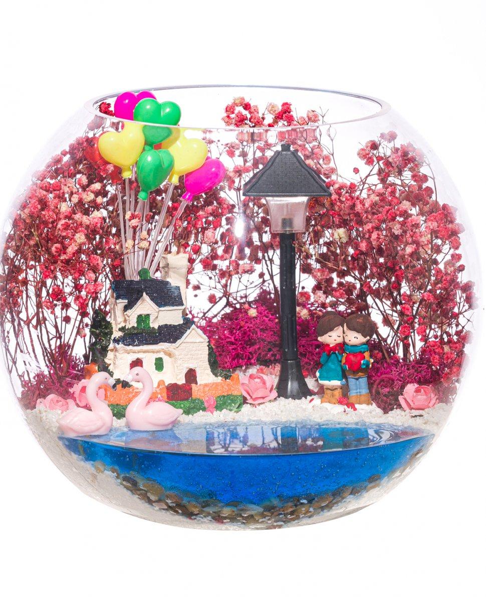 Teraryum Şirin Işıklı Balonlu Ev